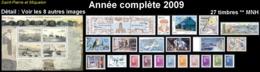 ST-PIERRE ET MIQUELON  - Année Complète 2009 - Yv. 939 à 965 Dont BF ** MNH  27 Tp  ..Réf.SPM11759 - St.Pierre Et Miquelon