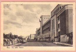 Cartolina Bari Via Della Vittoria Con Tram - Viaggiata - 1940 - Bari