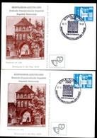 DDR PP17 D2/009 2 Privat-Postkarten 1.+2. AUFLAGE STRALSUND Sost.1979  NGK 8,00 € - [6] Oost-Duitsland