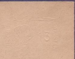 PAKISTAN Postal Stationery Bengali 1961 - 13 PAISA Inland Envelope On Cotton Flower, Albino ERROR Print Missing, Embosse - Pakistan