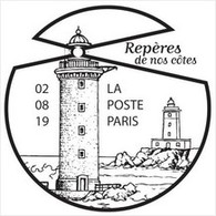 Fac-similé Du Cachet Temporaire Phares Repères De Nos Côtes, Headlight Lighthouse Leuchtturm - Vuurtorens