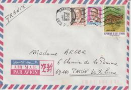 Cote D'Ivoire Lettre De 1989 Pour La France Avec 701B - Côte D'Ivoire (1960-...)