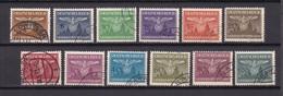 Generalgouvernement -  Dienstmarken - 1943 - Michel Nr. 25/36 - Gest. - Occupation 1938-45