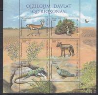 Uz 1393-98 Bl. 100 Uzbekistan Usbekistan 2019 Fauna Und Flora - Usbekistan