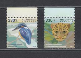 Armenia Armenien 2019 Mi. 1129-30 Flora And Fauna Kingfisher And Leopard - Armenië