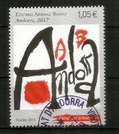 Catalan Artist Eduard Arranz-Bravo, Pintor Català. Nouveau Timbre 2019, Oblitéré, 1 ère Qualité - Andorre Français