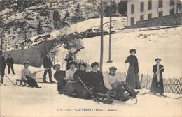 65-CAUTERETS- L'HIVER - SKIEURS - Cauterets