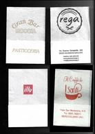Tovagliolino Da Caffè - Lotto 4 Pezzi  N. 03 - Servilletas Publicitarias