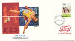 Malawi FDC 13-6-1988 XXIV Olympiad High Jumping With Cachet - Malawi (1964-...)