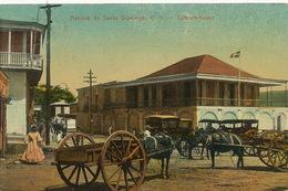 Santo Domingo  Aduana Custom House Douanes Envoi Bauchacourt Lion D' Or Montmerle Ain Texte Negresse - Dominikanische Rep.