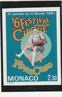 Monaco Non Dentelé Sans Charniére ** N° 1753 Le Cirque - Monaco