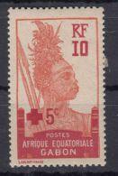Gabon 1915 Croix Rouge Yvert#81 Mint Hinged - Unused Stamps