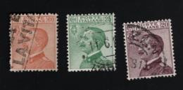1926  Emanuel III Mi IT 244 - 47 Sn IT 99 - 01 Yt IT 179 - 82 Sg IT 180 Sas IT 204 Un IT 204 - Gebraucht