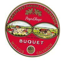 ETIQUETTE De FROMAGE..CAMEMBERT Fabriqué En NORMANDIE..BUQUET à .MITTOIS ( Calvados 14-AT) - Cheese