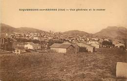 - Var -ref-B439- Roquebrune Sur Argens - Vue Generale Et Le Rocher - Carte Bon Etat - - Roquebrune-sur-Argens