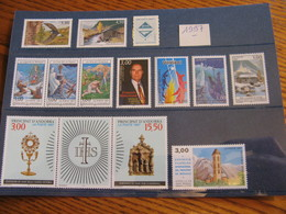 ANDORRE ANNEE COMPLETE 1997 NEUVE ** LUXE - MNH - FACIALE 8,32 EUROS - French Andorra