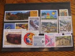 ANDORRE ANNEE COMPLETE 1999 NEUVE ** LUXE - MNH - FACIALE 9,24 EUROS - Andorra Francesa