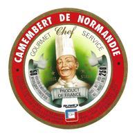ETIQUETTE De FROMAGE..CAMEMBERT De NORMANDIE..Gourmet Chef Service..3 Etoiles..RUMEX - Cheese