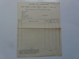 VIEUX PAPIERS - DOCUMENTS COMMERCIAUX : Lettre De Commande - Vierzon (Cher) - 1900 – 1949