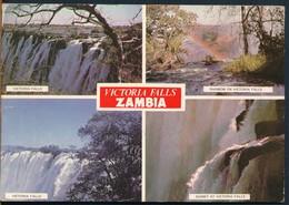°°° 18916 - ZAMBIA - VICTORIA FALLS - VIEWS - 1977 With Stamps °°° - Zambia