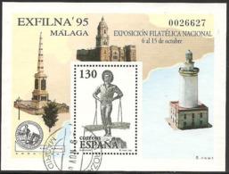 1995-ED. 3393 H.B.-EXFILNA'95-USADO- - 1931-Hoy: 2ª República - ... Juan Carlos I