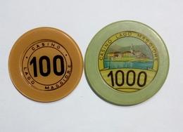 ITALIA - Casinò LAGO MAGGIORE - FICHA / CHIP / FICHE / TOKEN Da 100 & 1000 - Casino