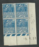Coin Daté Exposition Coloniale N° 273  Du 5 1 1931  ** - 1930-1939