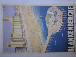 BLANKENBERGE Affiche Postkaartformaat JAREN 30 - Blankenberge