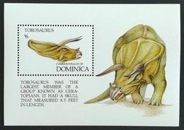 Dominica 1992** Mi.Bl.212. Dinosaurs, MNH [13;197] - Briefmarken