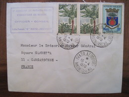 Madagascar 1970 France IVATO Aeroport 2e RPIMA Lettre Enveloppe Cover Colonie Par Avion Air Mail CARCASSONNE - Madagascar (1960-...)