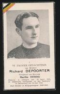 RICHARD DEPOORTERE  ICHTEGEM 1915 VERONGELUKT SUSTENPAS ZWITSERLAND 1948 - Todesanzeige