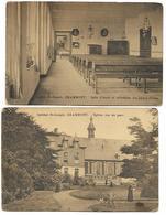 Geraardsbergen - Institut Saint-joseph ( église Et Salle D'étude ) Lot De 2 Cartes - Geraardsbergen