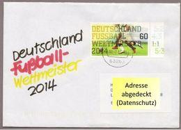 """BRD - SU Zu """"Deutschland Fußball-Weltmeister 2014 """" Mit Marke 3095 (Rundstempel) - Fußball-Weltmeisterschaft"""