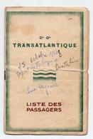 (paquebots) CGT  Liste Des Passagers Saint Nazaire-Cayenne 1928 Paquebot PUERTO-RICO  (PPP21757) - Vieux Papiers