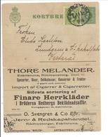 Kortbref 5 öre No.305 Uprated ANNONSER - Postal Stationery