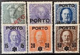 AUSTRIA 1916 - Canceled - ANK 58-63 - Complete Set! - PORTOMARKEN - Portomarken