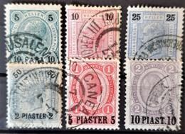 AUSTRIAN LEVANTE 1900 - Canceled - ANK 32-37 - Levant Autrichien