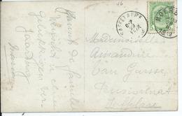 Fantasiekaart Met OCB 83 - Afstempeling MOERBEKE / SAFFELAERE Type 2L - COBA 15 - 1893-1907 Armoiries