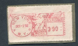 USA 1952 On Fragment Meter Stamp 155488 NEW YORK . High Value - Machine Stamps (ATM)