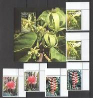 G017 2011 DES COMORES FLORA FLOWERS FRUITS 1BL+1SET MNH - Frutta