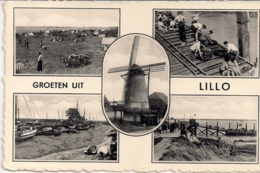 """LILLO-ANTWERPEN """"GROETEN UIT""""FOTOKAART UITGAVE J.PREVOT-ANTWERPEN - Antwerpen"""