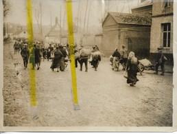59 NORD BATAILLE DE CAMBRAI REFUGIES DE NOYELLES SUR ESCAUT PHOTO OFFICIELLE ANGLAISE - Guerre 1914-18