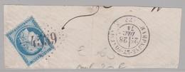 GC 4539 S / Fragment ( T 24 Champagne Et Fontaine ) Dept 23  S / N° 60 - Marcophilie (Timbres Détachés)