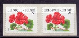 België - 1999  - ** R 90 B - Sprintpak - SNP + Sprintpak Met Tekst - Geranium ** Zie Scan - Coil Stamps