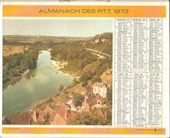 Almanach Des PTT 1973 - [vide] - Ill. : La Dordogne / Entraygues-sur-Truyère - Calendars