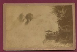 270220B - PHOTO ANCIENNE CABINET CARL KOCH SCHAFFHAUSEN - SUISSE Rheinfall - Chutes Du Rhin - SH Schaffhouse