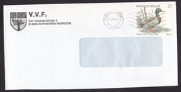 Belgium: Cover, 1989, 1 Stamp, Duck, Bird (minor Discolouring At Back) - Storia Postale