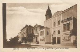 CPA   Ajaccio  église St Roch - Ajaccio