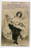 ARTISTE 1328 Suzanne DERVAL Erotisme French Cancan Relève Sa Robe Dessous Noirs  Photog OGEREAU  écrite 1904 - Artistes