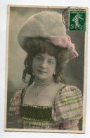 ARTISTE 1355 DANICOU Portrait Robe Et Son Chapeau 622/5 M.F Paris   1907 Timb - Artisti